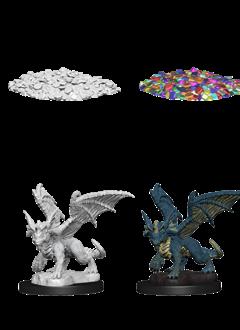 D&D Unpainted Minis: Blue Dragon Wyrmling