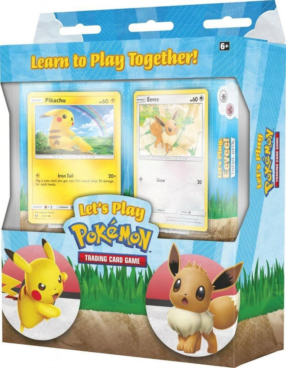 Pokemon Let's Play Pikachu & Eevee TCG Box