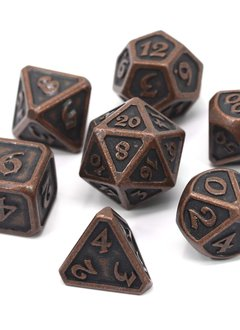 Metal Mythica Dice Set - Dark Copper