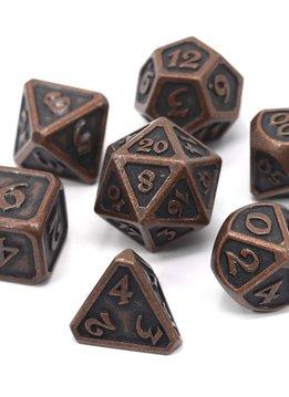 Metal Mythica Dice Set - Dark Copper