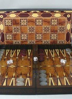 "Backgammon: 19"" Marrakesh Wood Decoupage"