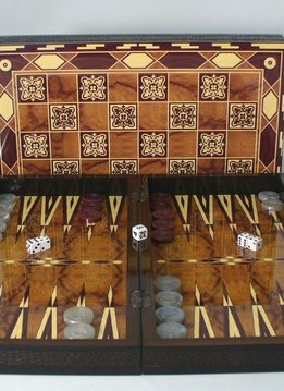 "Backgammon: 19"" Marrakesh Wood Decoupage"