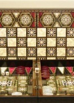 "Backgammon: 20"" Pearl Mosaic"