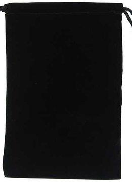"Micro Suede 6"" x 9"" Black Bag"