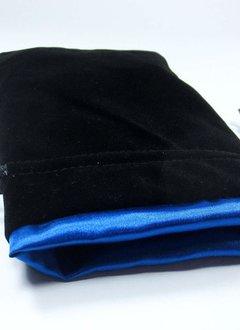 """Velvet 5"""" x 8"""" Black/Blue Bag"""