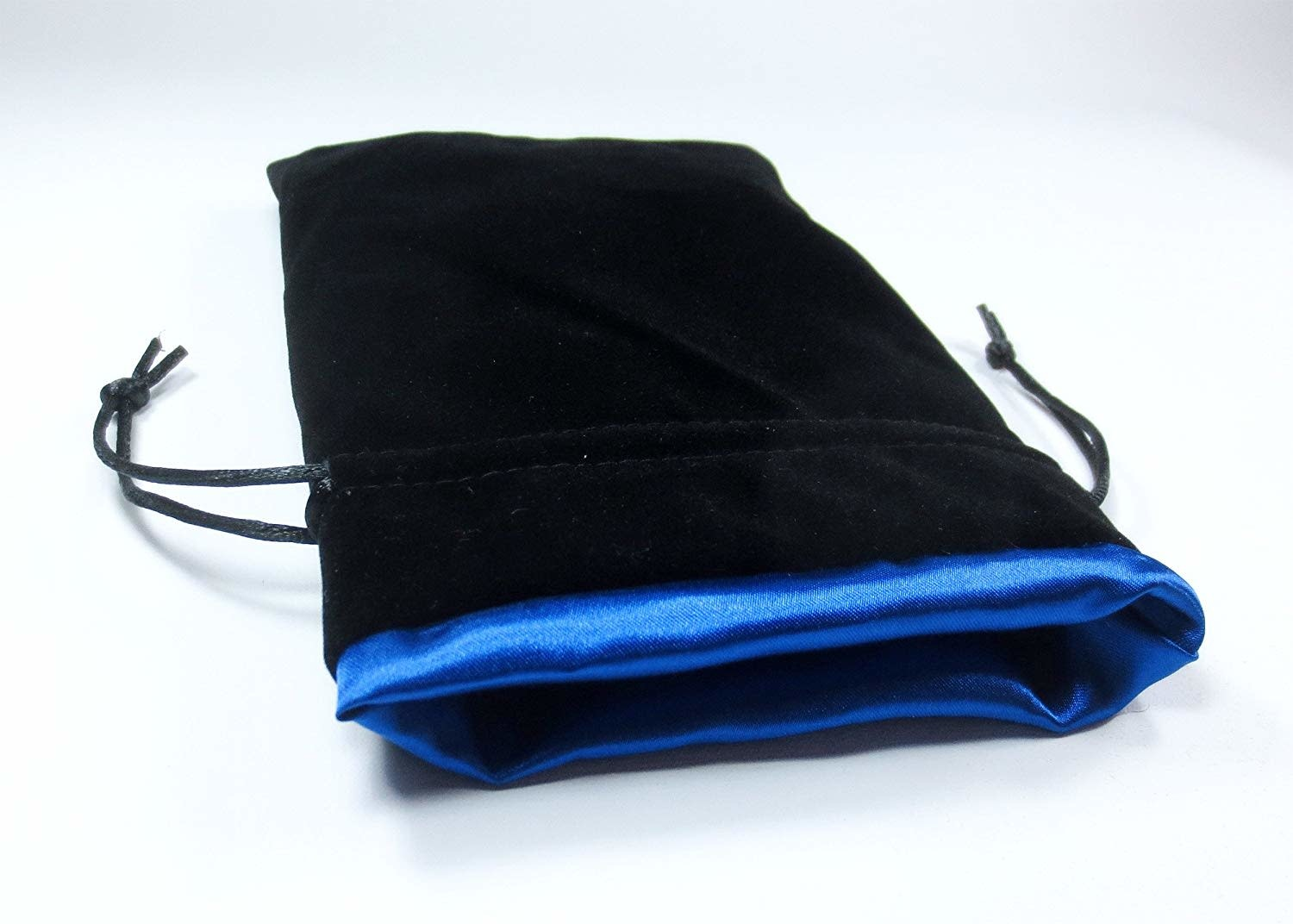 "Velvet 5"" x 8"" Black/Blue Bag"