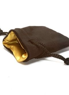 "Velvet Dice Bag 3"" x 4"" Black/Gold"