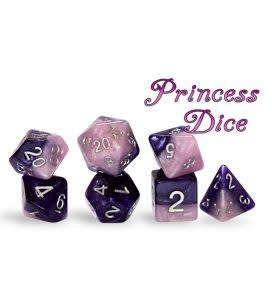 Halfsies Dice - Princess Dice Set