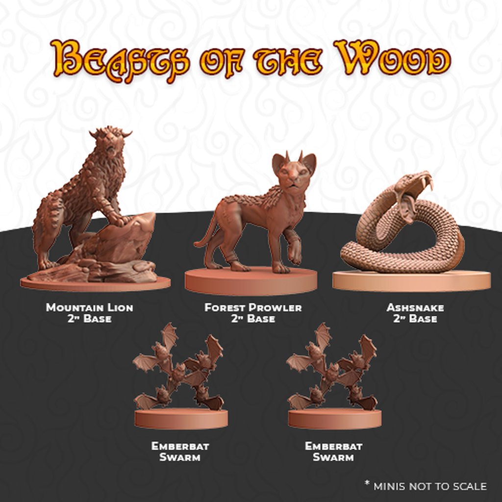 Humblewood Minis: Beasts of the Wood