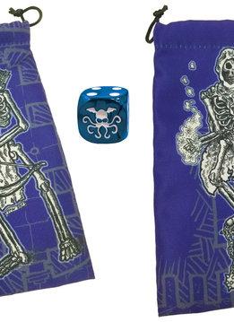 Skeleton Dice Bag w/ Cthulhu D6