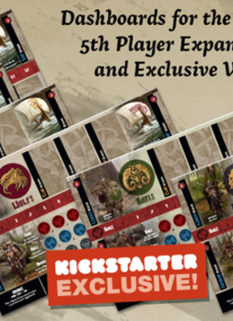 Blood Rage Digital KS - Cardboard Clan Dashboards