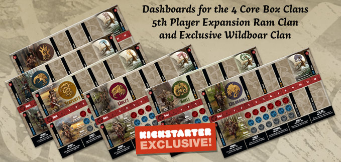 Blood Rage Digital KS - Cardboard Clan Dashboards