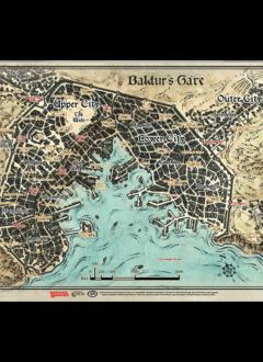 D&D Descent Into Avernus: Baldur's Gate Map