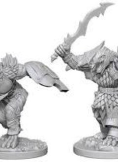 DND Unpainted Minis: Dragonborn Male Fighter