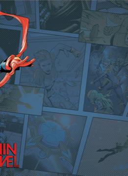 Marvel Champions - Captain Marvel Game Mat