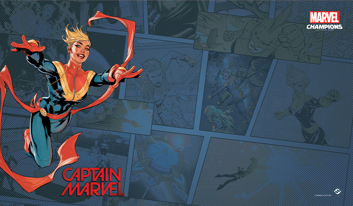 Marvel Champions - Captain Marvel Game Mat
