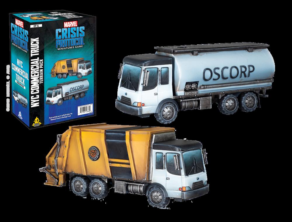 Marvel CP: Garbage Truck/Chem Truck Terrain Pack