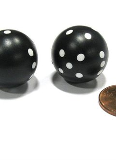 Round D6: 2Pc Black/White