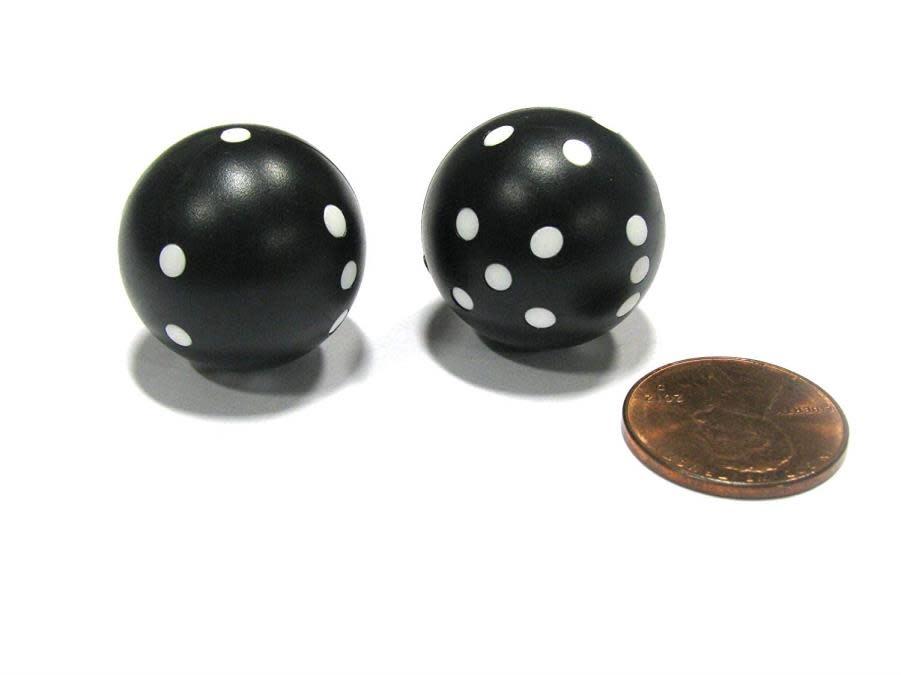 Round D6: 2Pc Black/White