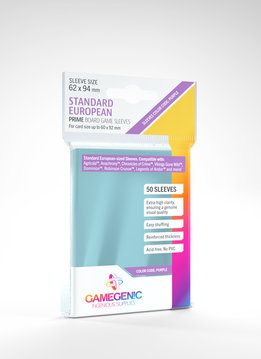 Gamegenic PRIME Sleeves: Standard European (50)