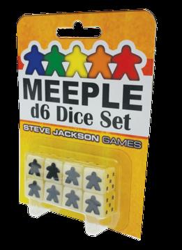 Meeple d6 Dice Set White (8)
