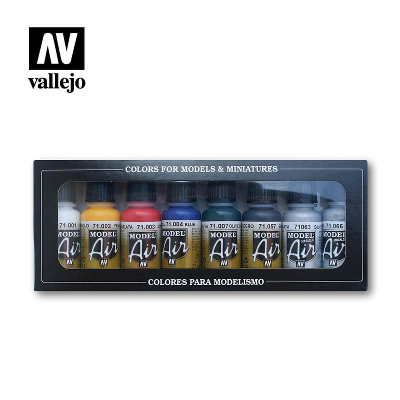 Vallejo Model Air: Basic Colors Set (8)