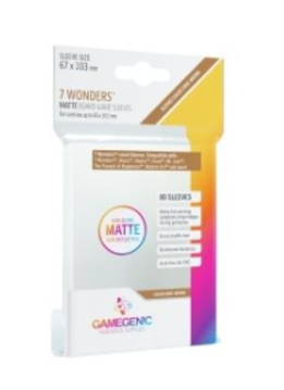 Gamegenic MATTE Sleeves: 7 Wonders (80)