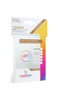 Gamegenic MATTE Sleeves: 7 Wonders (80)