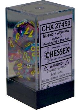 27450 Festive Mosaic w/Yellow 7pc