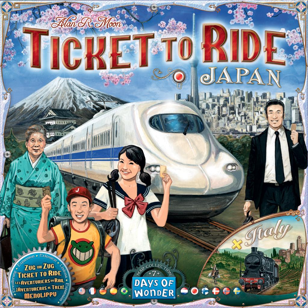 Les Aventuriers du Rail: Cartes #7 - Japon & Italie (ML)