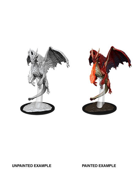 D&D Unpainted Minis: Young Red Dragon (WV11)