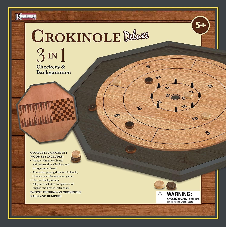 Crokinole 3-in-1 Deluxe