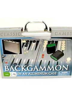 Backgammon in Aluminum Case