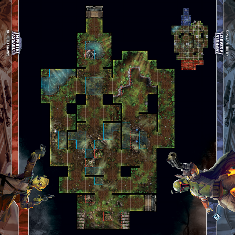 SW Imperial Assault: Nal Hutta Skirmish Map