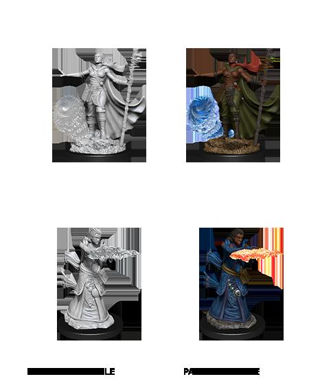 D&D Unpainted Minis: Male Elf Sorcerer (WV11)