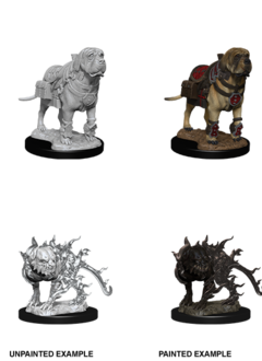 D&D Unpainted Minis: Mastiff & Shadow Mastiff (WV11)