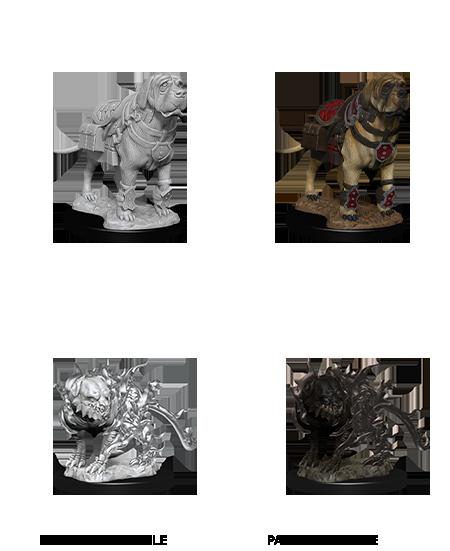 D&D Unpainted Minis: Mastiff & Shadow Mastiff (WV11)