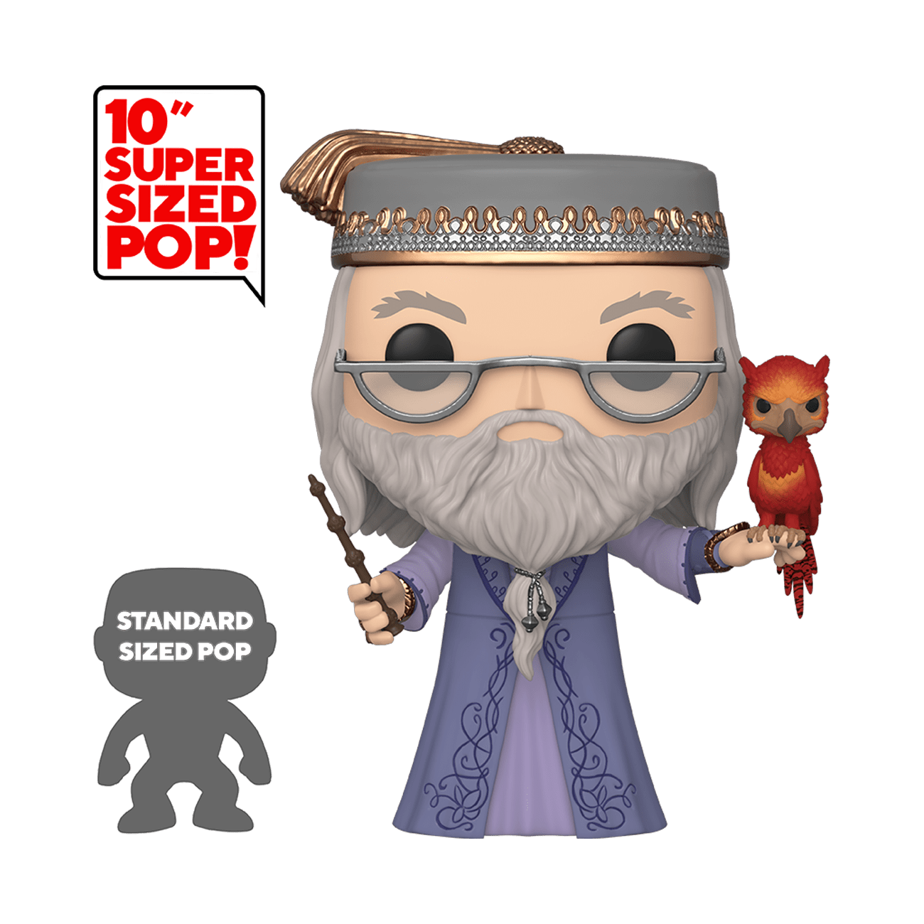 POP! Harry Potter: Dumbledore with Fawkes 10""