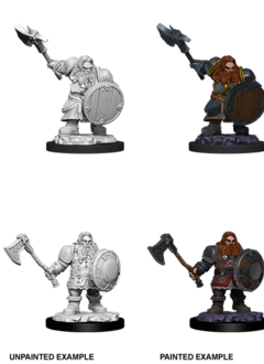 D&D Unpainted Minis: Male Dwarf FIghter (WV11)