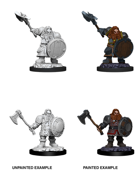 D&D Unpainted Minis: Male Dwarf FIghter (WV11)