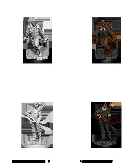 D&D Unpainted Minis: Male Human Ranger (WV11)