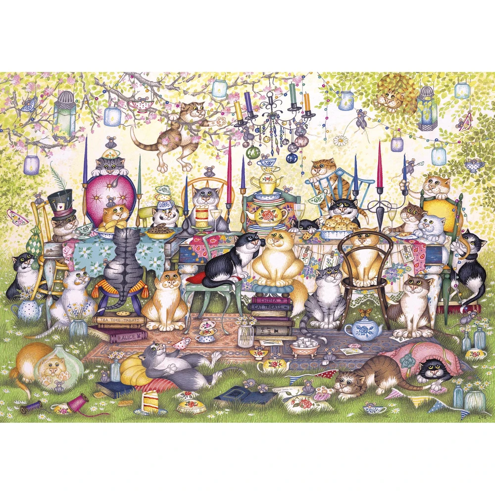 Puzzle: Mad Catter's Tea Party (250XL pc)