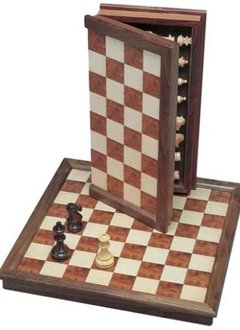 "Camphor Folding Chess Set - 18"" Board, 3.75"" King"
