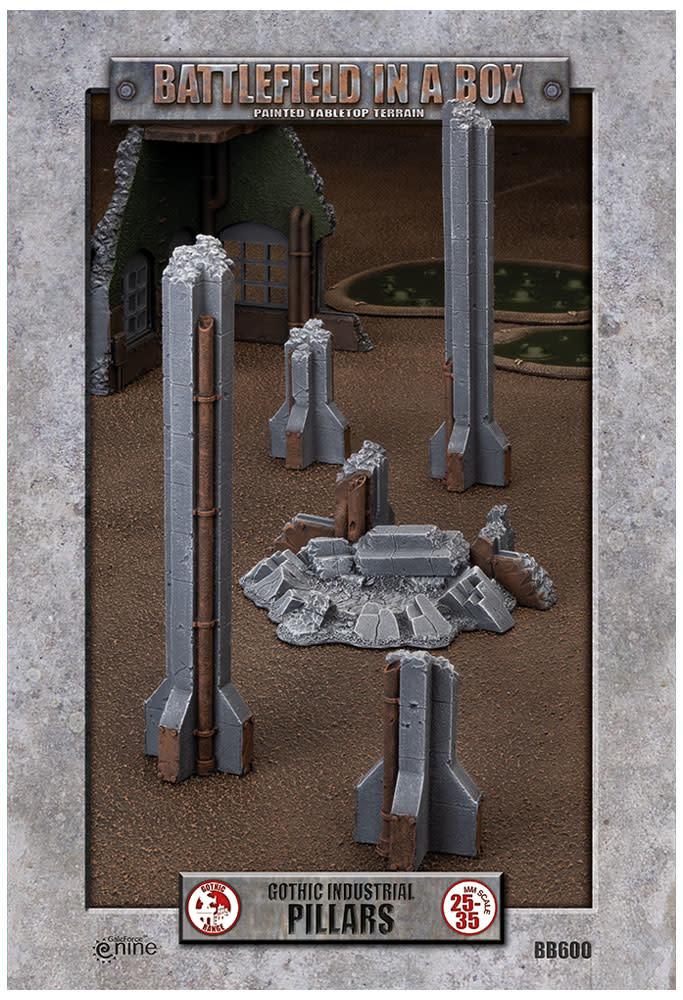 Battlefield in a Box - Gothic Industrial Pillars