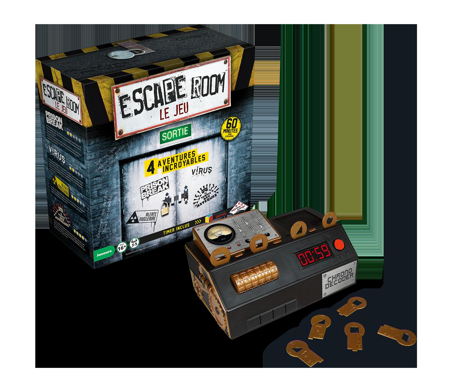 Escape Room: Le Jeu - Coffret de Base 1 (4 Scénarios)