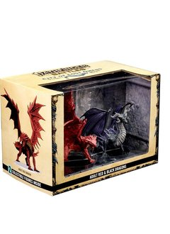 Pathfinder Battles Minis: City of Lost Omens Premium Figure: Adult Red & Black Dragons