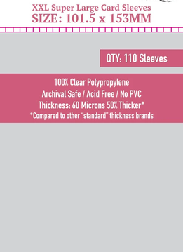 XXL Super Large Sleeves 101.5mm x 153mm 110ct