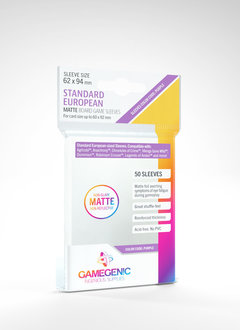 Gamegenic MATTE Sleeves: Standard European (50)