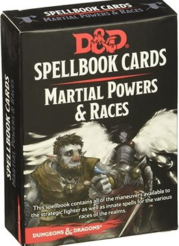 D&D Spellbook Cards: Martial Powers & Races