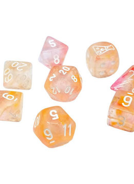 30041 Lab Dice Nebula Supernova w/ White Luminary 7pc Set